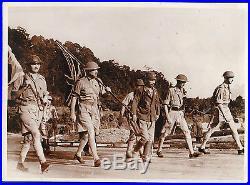 Vintage iconic photo Singapore British army general surrender Japan soldier 1942