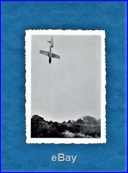 Vintage military photo V 1 flying bomb Fieseler foto Liege Belgium 1945 WW2 war