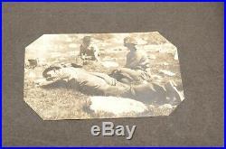 Vintage photo album 1900s-20s 143 BW pics Cars horses parades pikes peak horses