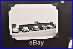 Vintage photo album 1930-40s 504 BW ATQ Cars ships Family wedding planes