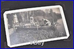 Vintage photo album 1940s Soldiers Cities Carts 260 BW PICS candids COOL SHOTS