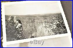 Vintage photo album 1940ss 419 BW pics Southwest Grand canyon Zion Hoover Dam