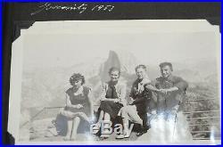 Vintage photo album 1950s-60s 247 pics cars family TWA planes mid century modern
