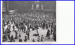 Vintage rare 1947 Iconic NYC photo of crowded Penn Station