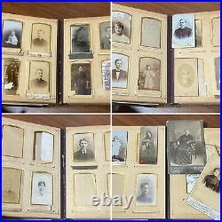 Vintage royal photo album SILVER 84 PB 1902-1907 family cabinet photos Manchuria