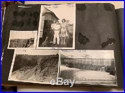 Vintage scrapbook / Photo Album over 450 B&W Pics Farming 1940's Family