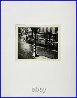 Vintage signed 1947 silver gelatin photographic print by Todd Webb