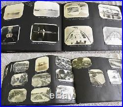 Vntg Military Navy Photo Album-1933-Ships-Planes-USS AZ-NY-Cuba-HI-Boxing-ID'd