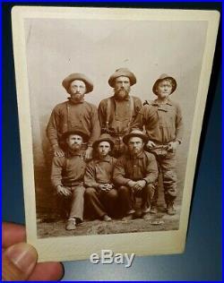 Vtg 1890's Winter & Pond Juneau Alaska KLONDIKE GOLD RUSH MINERS CABINET PHOTO