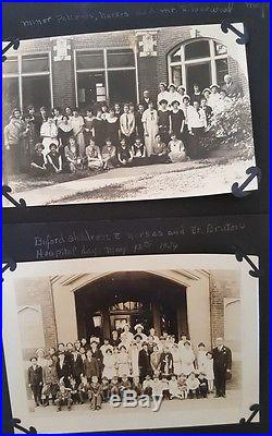 Vtg 1920's Photo Album Potlengers & Missouri State Sanatorium Patients Doctors