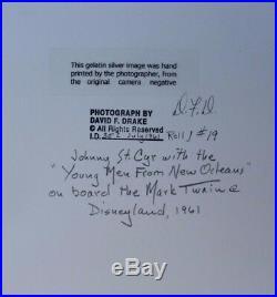 Vtg 1961 David F. Drake Signed Gelatin Silver Photo Image Johnny St. Cyr #19