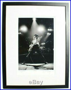 Vtg 1977 Neal Preston JIMMY PAGE Black & White Signed Framed Photo