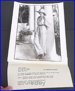 Vtg 1980s 8x10 lot of 11 promo photos RALPH LAUREN Yasmine Le Bon supermodel