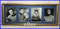 Vtg B/W Star Trek Fan Cast Crew Photos AUTOGRAPHED Shatner Nimoy Doohan DeForest