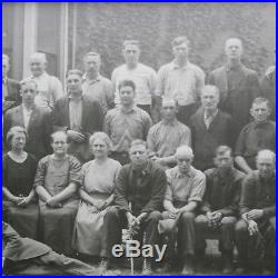Vtg Clinton Woolen Mill Michigan 28 Panoramic Photo Factory Workers Picture
