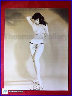 Vtg Original 1950s Bettie Page Risqué Nude PinUp Photo MOST AMAZING FIGURE MODEL