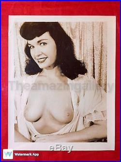 Vtg Original 1950s Risqué Bettie Page Nude Girlie Pin-Up Photo Unique Bombshell