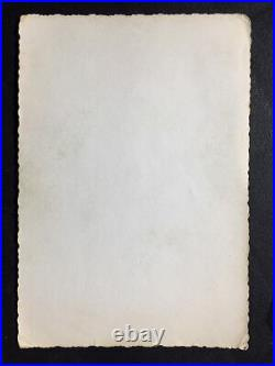 Vtg Original 50s Bettie Page Snapshot Risque Nylons Room Home Kodak Velox Photo