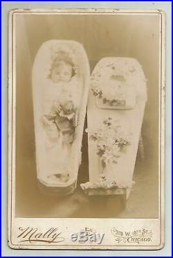 Vtg Toddler Post Mortem Cabinet Photo Chicago Child Coffin Casket