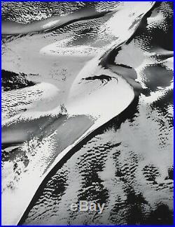 WILLIAM GARNET Vintage Signed Silver Gelatin Sand Dunes with Snow, 1983