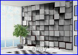 Wallpaper Black and White 3d blocks abstract wall mural photo (22256975)