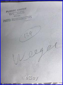 Weegee (arthur Fellig) Vintage Silver Gelatin Distortion Photo Lion With 3 Eyes