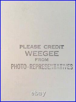 Weegee (arthur Fellig) Vintage Silver Gelatin Photo Never Too Old 1950's