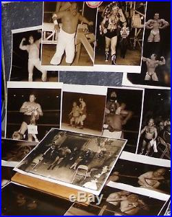 Wrestling Photographs Vintage Group of 22 From Early 1970s Original Photos