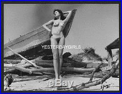 YGST-0615 ORIG VINTAGE FRENCH B/W ART POSED NUDE SHOT/SIGNED SERGE JACQUES 9.5x7