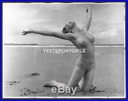 Ygst-0635 Original Vintage B/w 8x10 60's British Nude Outdoors By Harrison Marks